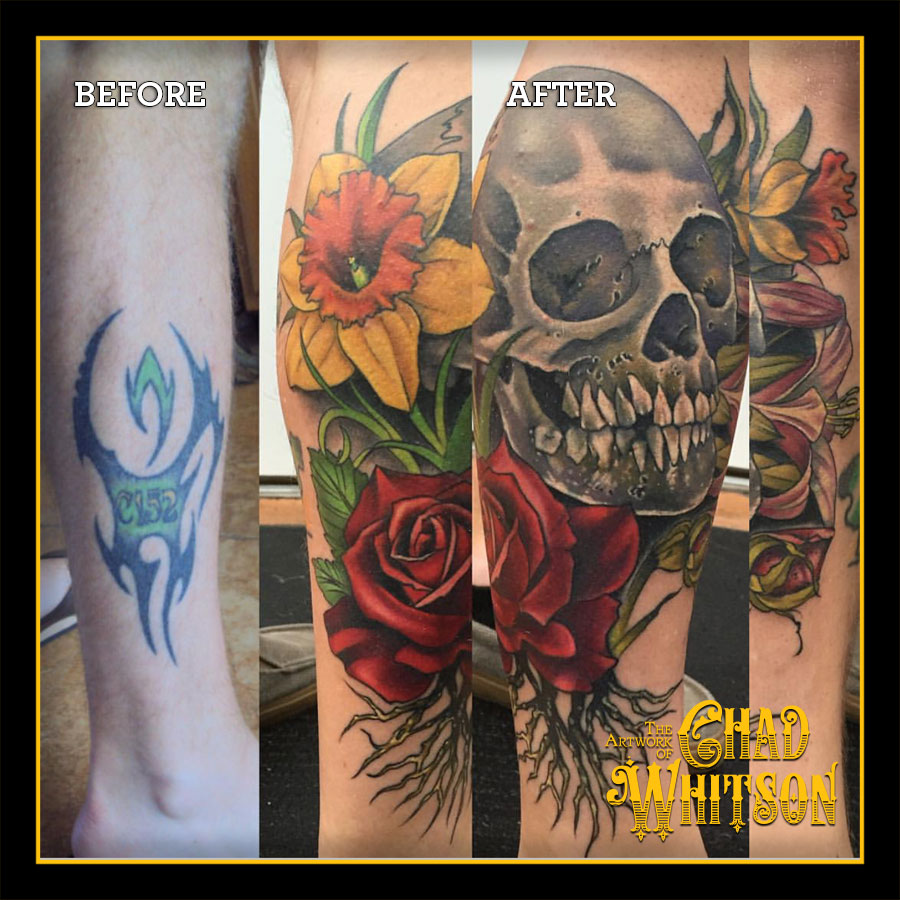 Tattoo Cover Ups | Chad Whitson\'s Balancing Act Tattoo Craft | San Diego